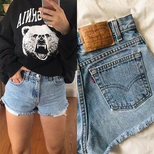 Vintage Levi Cut off high waisted shorts
